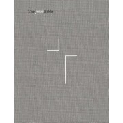 The Jesus Bible, NIV Edition, Cloth Over Board, Gray Linen, Comfort Print, Hardcover/Passion