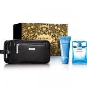Versace Man Eau Fraiche Комплект (EDT 100ml +SG 100ml + Bag) за Мъже