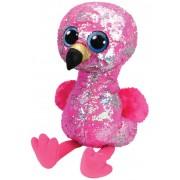 Boos Flamingo Roz Cu Paiete, 42 cm
