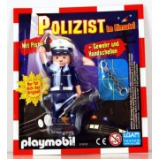 Playmobil Policeman In Action! Exclusive German Policeman In Official Uniform With Handcuffs, Pistol & Shotgun 30799782