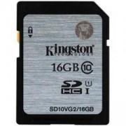 Карта памет Kingston SDHC 16GB, Class 10 UHS-I, KIN-SD10VG2/16GB