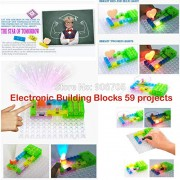 Generic 59 Projects Circuits Smart Electronic kit Integrated Circuit Building Blocks ELENCO Snap Extreme Science Kids Toys