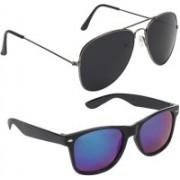 Royalmede Aviator, Wayfarer Sunglasses(Black, Blue)