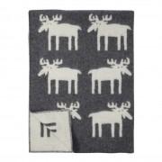 Klippan Yllefabrik älgar moose ullfilt grey, klippan yllefabrik
