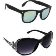 Hrinkar Wayfarer Sunglasses(Silver, Grey)