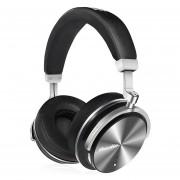 Bluedio T4S auriculares HiFi activo Cancelación de ruido sobre la oreja giratoria auriculares inalámbricos Bluetooth 4,2 Bajo Extra carga rápida(Negro)