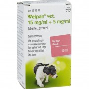 Bayer Animal Health Welpan vet. oral suspension 5 mg/ml+15 mg/ml 50 ml