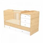 Timba Fanni maxi kombi ágy 5 fiókos mandula-fehér