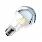efectoled.com Bombilla LED E27 Regulable Filamento Chrome Reflect Classic A60 6W