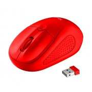 Mouse, TRUST Primo, Wireless, Red (22138)