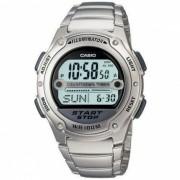 Casio W-756D-1AVDF Reloj digital de acero para hombres - Plata