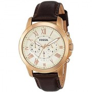 Fossil Analog Silver Dial Mens Watch - FS4991