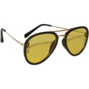 Peter Jones Aviator Sunglasses(Yellow)