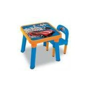 Mesa Com Cadeira Hot Wheels Fun