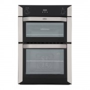 Belling BI90F Stainless Steel Double Built In Electric Oven
