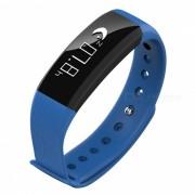 Pulsera inteligente Bluetooth M89 con monitor de frecuencia cardiaca con presion arterial - Azul