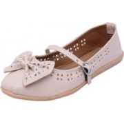 Footrendz Ethnic Bow Touch Bellies For Women(Beige)