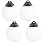 Комплект от 4 броя фендери (яйцевидна форма) за лодка [pro.tec]® 18 x27 cm, Бял/Черен
