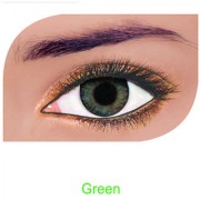 FreshLook Colorblends Power Contact lens Pack Of 2 With Affable Free Lens Case And affable Contact Lens Spoon (-6.00Green)