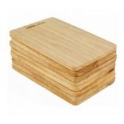 Set 8 tocatoare dreptunghiulare din lemn de Arbore de Cauciuc, AJ000167