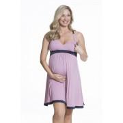 Нощничка за бременни и кърмачки Gateau Pink