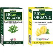 Organic Bhringraj Powder Control Hair Fall Hair Loss And Lemon Peel Powder Set Of 2