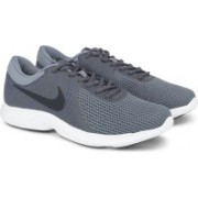 Nike NIKE REVOLUTION 4 Running Shoes For Men(Grey)