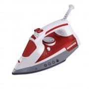Fier de calcat Hoover IronJet, 2500 W, talpa ceramica, anti-calcar, auto-curatare, rosu