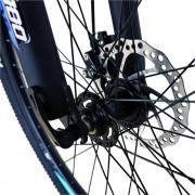Bicicleta MTB-HT 24 Velors V2456A cadru aluminiu negru albastru