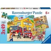 PUZZLE BRIGADA DE POMPIERI 3x49 PIESE Ravensburger