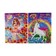 Lisa Frank Coloring and Activity Book Set-Rainbow Dreams & Sparkle Shimmer (2 Books-96 Pages Each)
