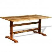 vidaXL Eettafel vintage-stijl gerecycled hout