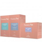 TummyTox ADEUS, gordurinha da barriga - um efeito de emagrecimento super rápido. 10 bebidas de Night Burner Drink+15 bebidas de FatBurner Drink+60 cápsulas Flat Tummy Caps. Para 1 mês.