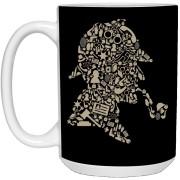 Sherlock Holmes - Doodle Art - 15 oz. White Mug - 77