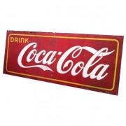 Coca-Cola Origineel Bord 1941 4 panelen op frame