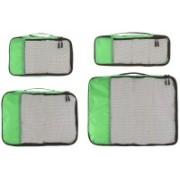 Shrih Travel Organizer - Small, Medium, Large, and Slim, Green (4-Piece Set)(Green)