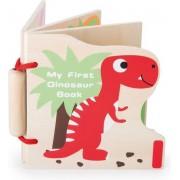 """Houten baby boekjes / Plaatjes boek - """"Mijn eerste Dinosaurus"""" - Baby speelgoed vanaf 1 jaar"""