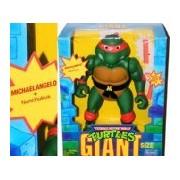Giant Size Michaelangelo & Nunchukus Vintage 1989 Teenage Mutant Ninja Turtles 13 Inch Posable Action Figure
