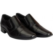 Hush Puppies Men's Leather Slip On For Men(Black)