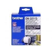 Brother Consumible Original Brother DK22113 Cinta continua de película plástica (transparente). Ancho: 62 mm. Longitud: 15,24 m para impresoras etiquetas QL