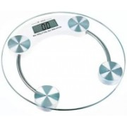 Sellerstory Personal Weight Machine 8mm Thick Round Transparent Glass Weighing Scale Weighing Scale(White)