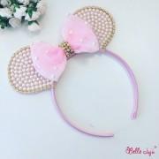 bellejuju Bandolete Minnie personalizada rosa