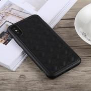 Apple TOTUDESIGN Deo serie Shockproof TPU + PU Case voor iPhone XS Max (zwart)