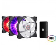 Комплект вентилатори Cooler Master MasterFan Pro 140 Air Pressure RGB 3 in 1 with RGB LED Controller