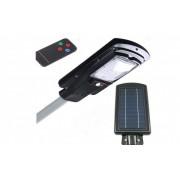 Proiector stradal 30W cu panou solar, senzor de miscare si telecomanda