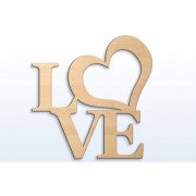 Synerga Ozdoba ścienna dekor LOVE 2 S