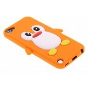 Oranje pinguin siliconen hoesje voor de iPod Touch 5g / 6