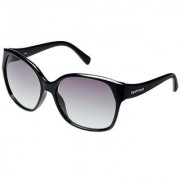 Fastrack P247GR1F Cat-eye UV Protection Sunglasses Black / Grey