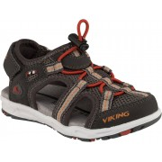 Viking Thrill Sandal, Charcoal/Red 21