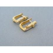 Zlaté dámske náušnice v žltom bielom zlate kamienky DN350V